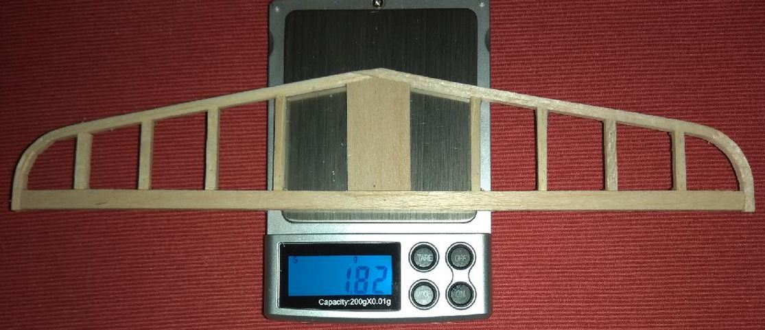 Elevator after gluening. Without grinding. Rough weight: 1,82gram/0,064oz